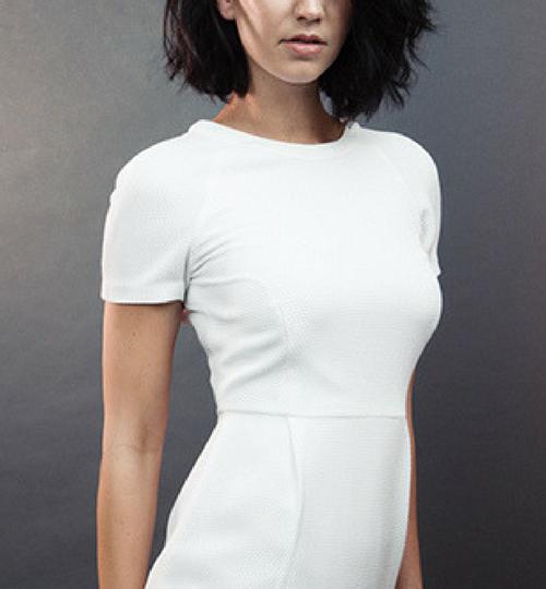 sexy model in white